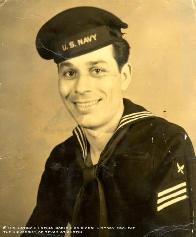 Joe Alcoser as a young sailor, around 1946. Mr. Alcoser's Naval Reserve Active Duty unit was recalled during the Korean War.