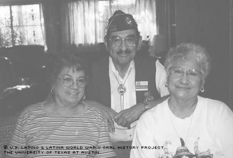 Abelardo Gonzales with his two sisters in San Antonio, TX.