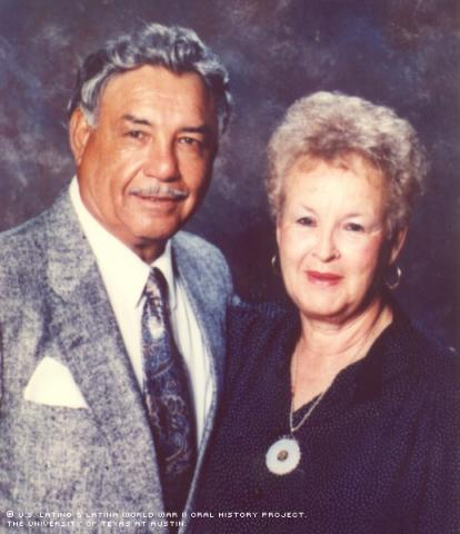 Ernest and Maddy Gonzales (wife) in 1999 at age 75.