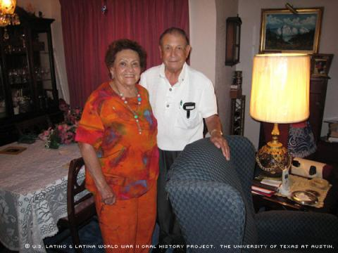 Cora Ramirez with her husband Conrado at their home in El Paso, Texas on January 24, 2008.