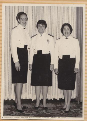 """2 A/E Nurses at the Tachi\O\""""Club in 1967.\""""By the order of the base/hosp commander - all officers on base are attending a dinner at the\""""O\""""Club in\""""Dress Mess\""""Uniforms.\"""""""""""
