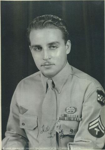Bennie Trujillo in El Paso, Texas in 1946. First time on Pass from hospital.