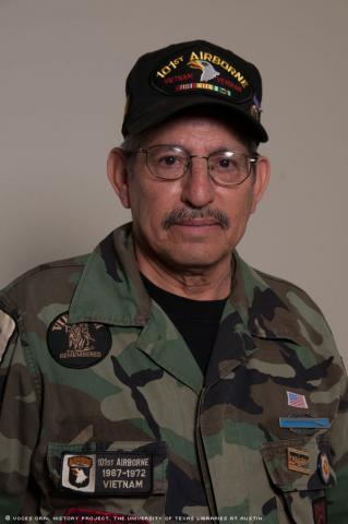 Vietnam Vet, Ben Saenz, was interviewed in Houston, Texas, on April 9, 2011. [Voces Oral History Project/ Michelle J Lojewski]