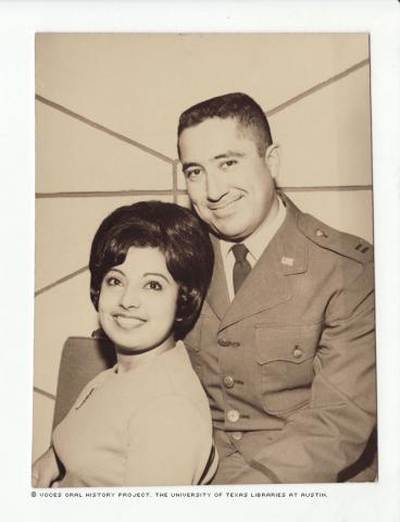 Captain and Mrs. John Aleman, 1967 in the PI 1967. This was a Christmas photo.\I missed the arrival in the USA of the Beatles.""""