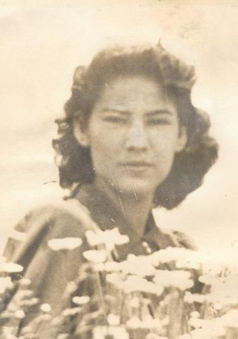Portrait of Lita De Los Santos, Black and White