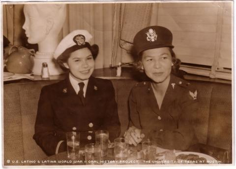 Beatrice Amado Kissinger (left) and Carmen Romero Phillips (right) - Voces Oral History Project